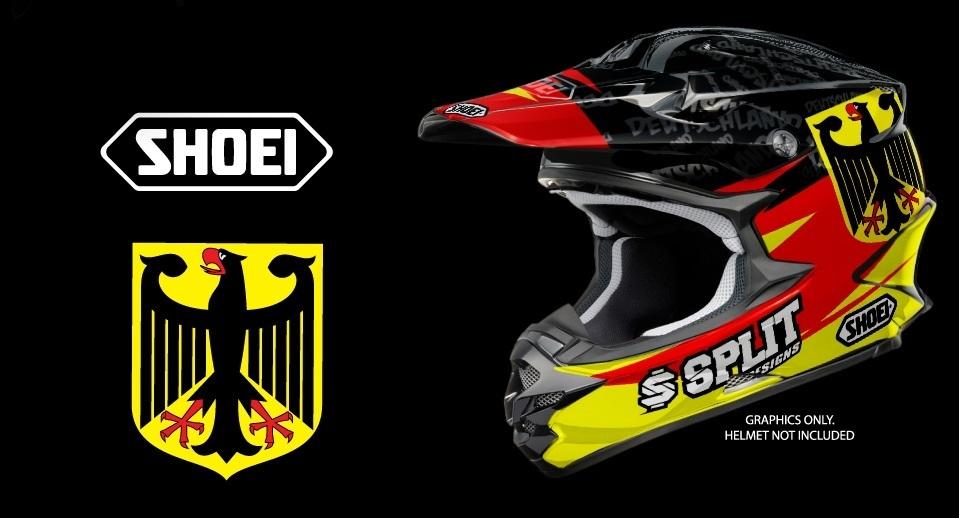 Helm Design helm dekor für verschiedene helme design deutschland mx kingz