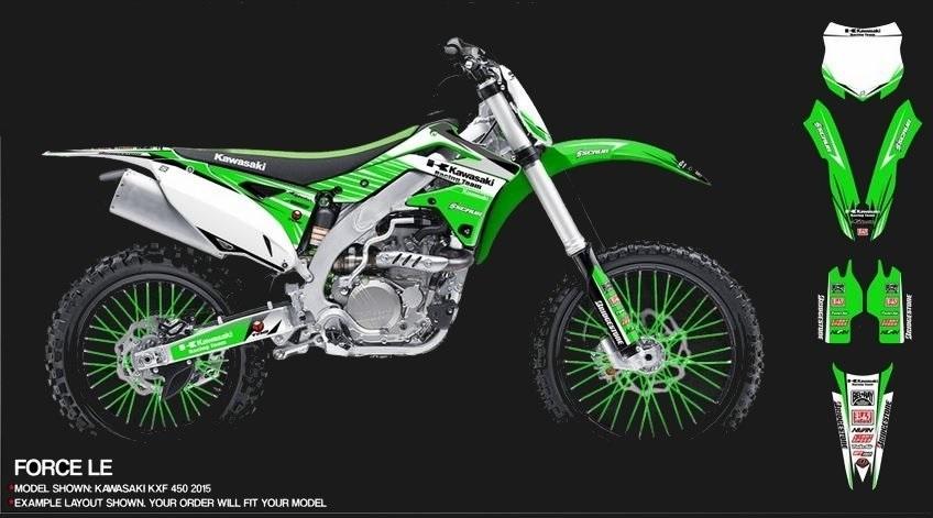 Kawasaki dekor design force le mx kingz motocross shop for Dekor shop
