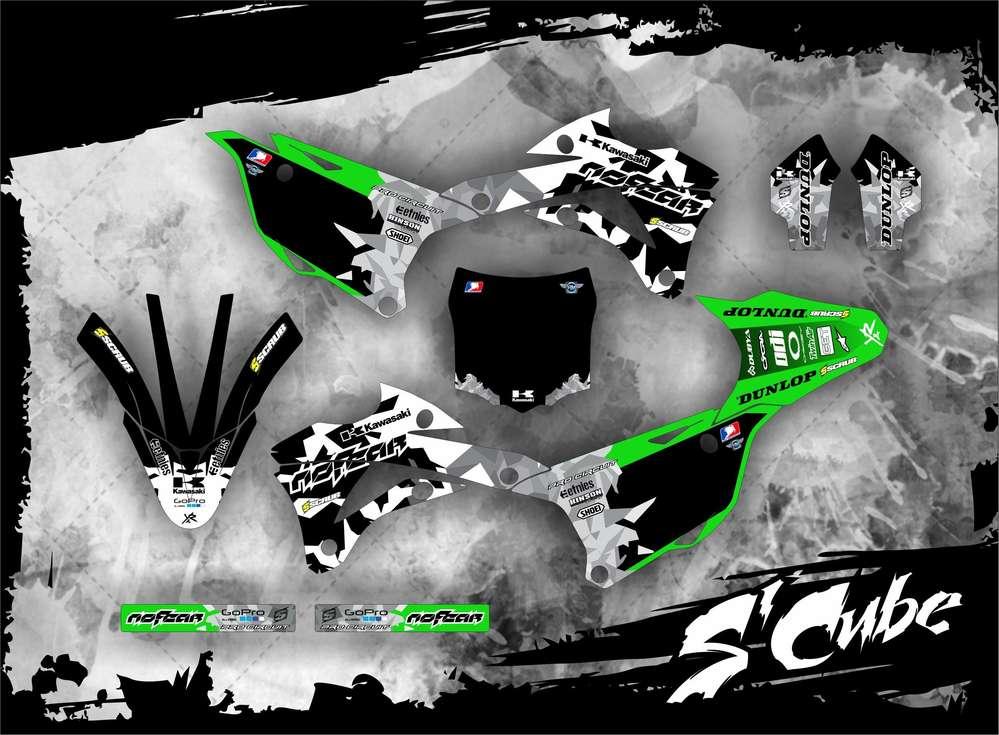 Kawasaki Dekor Kx 85 2014 2016 Scube Mx Kingz Motocross Shop