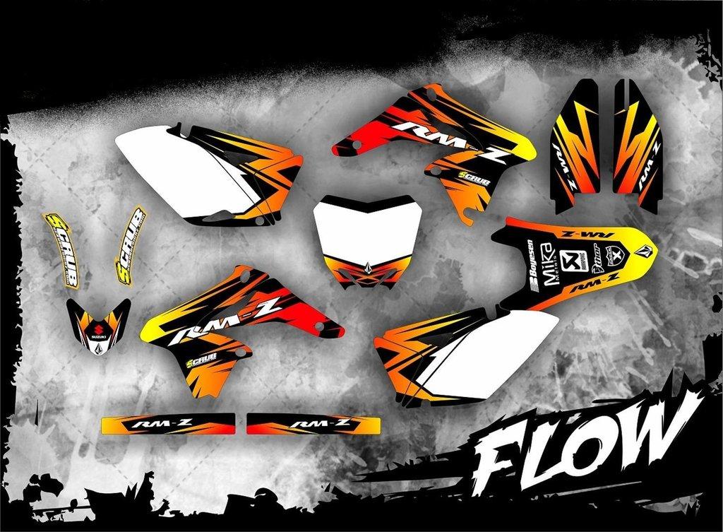suzuki rmz 250 2010 2017 dekore mx kingz motocross shop. Black Bedroom Furniture Sets. Home Design Ideas