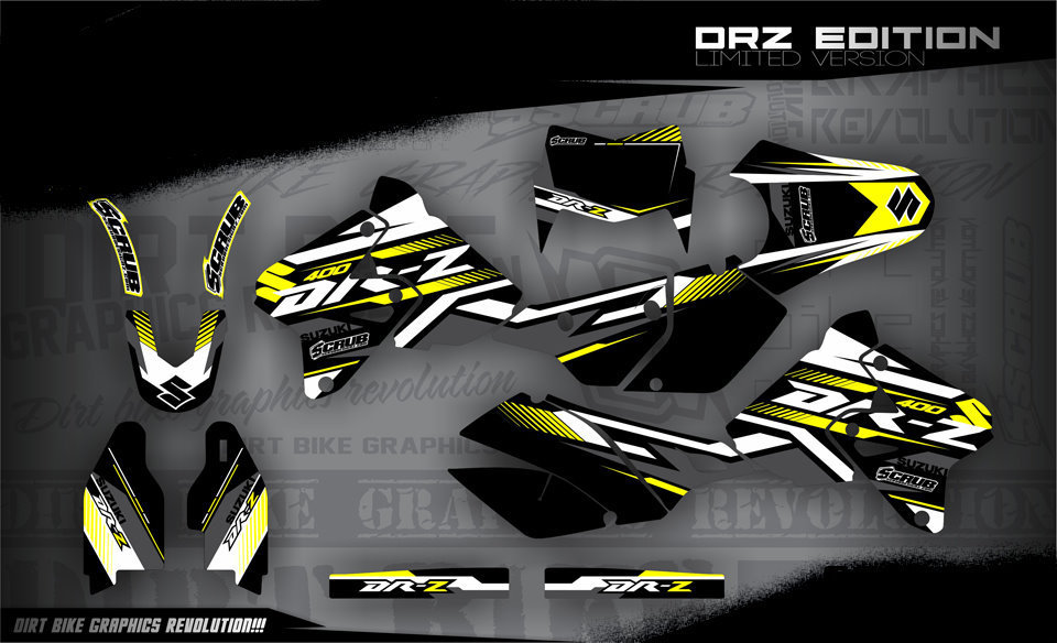 suzuki drz 400 1999 2016 dekore mx kingz motocross shop. Black Bedroom Furniture Sets. Home Design Ideas