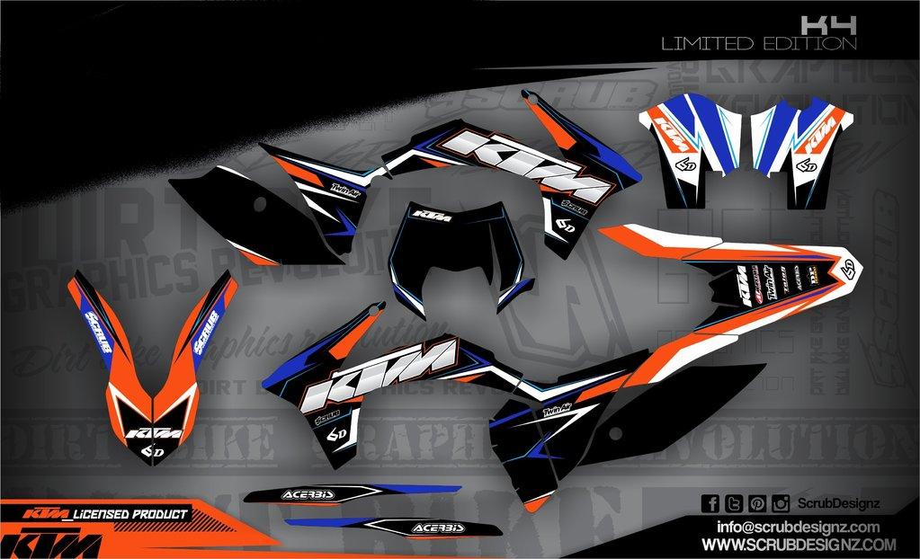 ktm exc dekore 2012 2013 mx kingz motocross shop. Black Bedroom Furniture Sets. Home Design Ideas