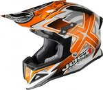 JUST1 MX-Offroad Helm J12 - Design Mister X - orange/dekor