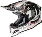 JUST1 MX-Offroad Helm J12 - Design Stamp - weiß/dekor gr S