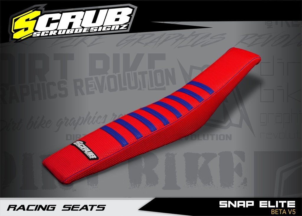 SNAP ELITE BETA V5 - SEAT COVER RED-BLUE