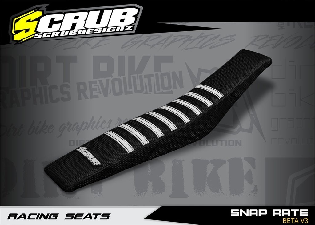 SNAP RATE BETA V3 - SEAT COVER BLACK-WHITE