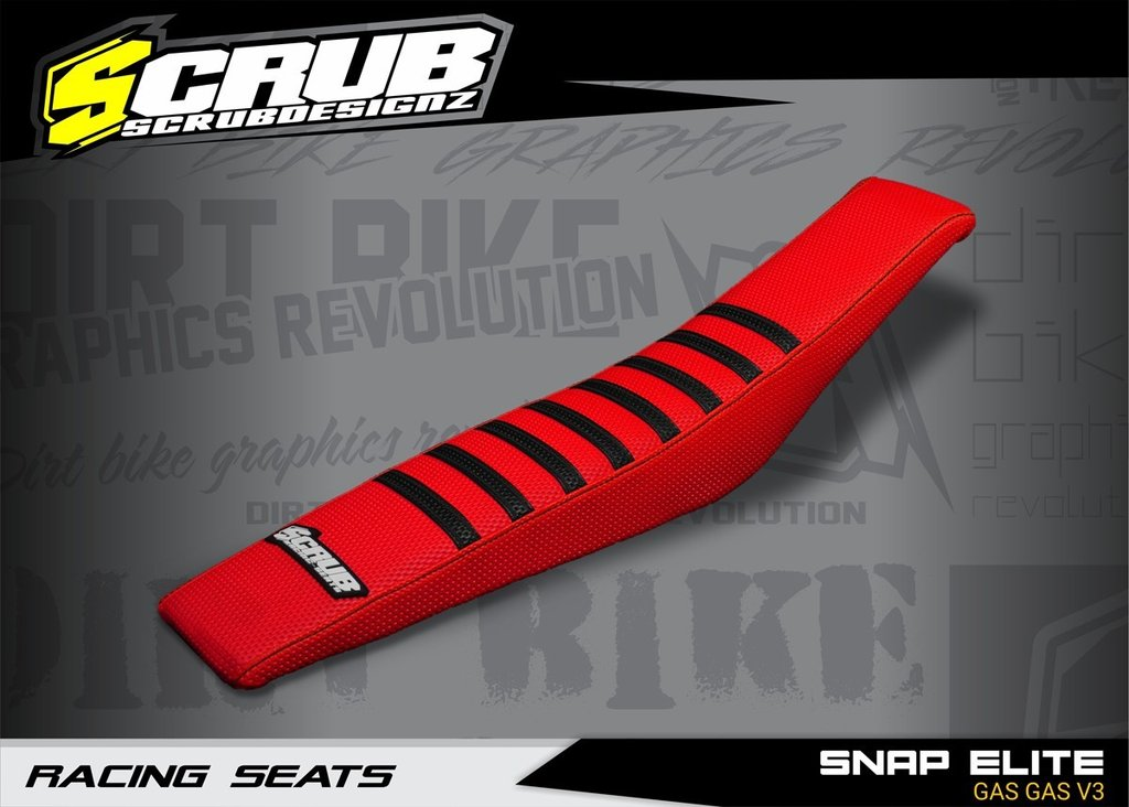 SNAP ELITE GAS GAS V3 - SEAT COVER RED - BLACK